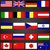Uppsättning för tjugo flaggor Arkivfoto