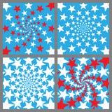Uppsättning för USA feriebakgrund vi förseglar och banerillustrationdesignen retro självständighet för bakgrundsdaggrunge Memo Royaltyfria Bilder