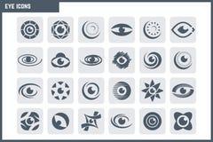 Uppsättning för vektorögonsymbol royaltyfria bilder