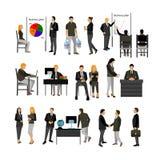 Uppsättning för vektor för kontorsarbetare royaltyfri illustrationer
