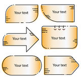 Uppsättning för vektor för tecknad filmtextaskar Fotografering för Bildbyråer