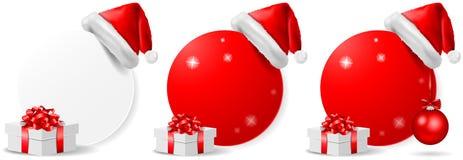 Uppsättning för vektor för julerbjudandehandling knapp isolerad vektor illustrationer