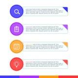 Uppsättning för vektor för mall för presentationsaffär infographic Royaltyfri Foto