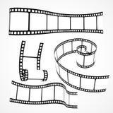 uppsättning för vektor för remsa för rulle för film 3d royaltyfri illustrationer