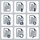 Uppsättning för vektordokumentsymboler Arkivfoton