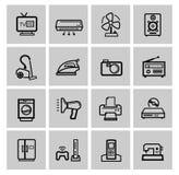 Uppsättning för vektorelektroniksymbol Fotografering för Bildbyråer