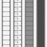 Uppsättning för vektorfilmremsa stock illustrationer