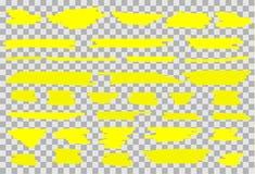 Uppsättning för vektorhighlighterborste stock illustrationer