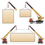 Uppsättning 6 för vektorkonstruktionsmaskiner stock illustrationer
