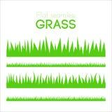 Uppsättning för vektorlägenhetgräs som isoleras på vit bakgrund Fotografering för Bildbyråer