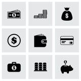 Uppsättning för vektorpengarsymbol stock illustrationer