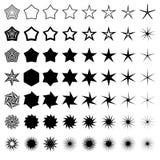 Uppsättning för vektorstjärnasymboler Royaltyfri Bild