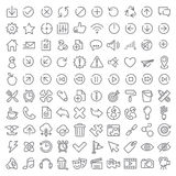 uppsättning för 100 vektorsymboler Fotografering för Bildbyråer
