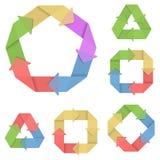 Uppsättning 4 för vektorsystemcirkulering stock illustrationer