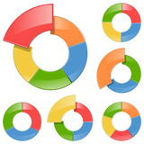 Uppsättning 5 för vektorsystemcirkulering stock illustrationer