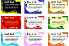 Uppsättning för vektortextram Fotografering för Bildbyråer