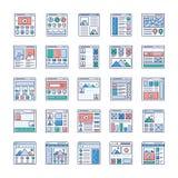 Uppsättning för WebsiteSitemaps plan vektorer stock illustrationer