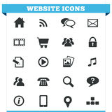 Uppsättning för Websitesymbolsvektor Arkivbilder