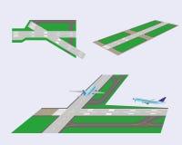 Uppsättning. Landningsbanor Arkivbilder