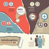 Uppsättning som är infographic på teamwork i affär Royaltyfri Fotografi