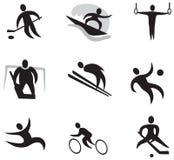 Sportsymbolsuppsättning 2 (svart) Royaltyfri Bild