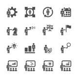 Uppsättning 3, vektor eps10 för symbol för personalresursledning Arkivbild