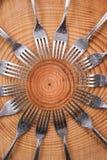 Uppsättningar av gafflar Fotografering för Bildbyråer