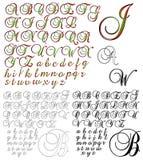 Uppsättningar för design för abcalfabetbokstäver Arkivfoto