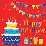 Uppsättningar för födelsedagparti Fotografering för Bildbyråer