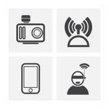 Uppsättningar för kommunikationsteknologi Arkivbilder