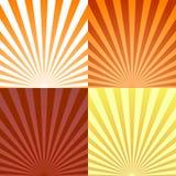 Uppsättningen av bakgrunder ray eller gör sammandrag solstrålar Den fastställda texturstrålen brast och retro strålbakgrund vekto Royaltyfria Bilder