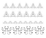 Uppsättningen av beståndsdelar för vektorsidagarneringen eller gränsar Royaltyfri Foto