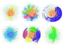 Uppsättningen av beståndsdelar med cirklar Fotografering för Bildbyråer