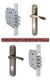 """Uppsättningen av dörrhandtag och låset låser â""""– 1 Royaltyfri Fotografi"""