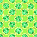 Uppsättningen av den färgrika tecknade filmen bär frukt citronen seamless färgrik modell Fotografering för Bildbyråer
