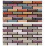 Uppsättningen av den färgrika tegelstenväggen texturerar samlingsbakgrundsmodellen Arkivbild