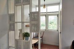 Uppsättningen av den hem- dekoren arkivfoto