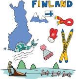 Uppsättningen av den nationella profilen av Finlandet Arkivfoto