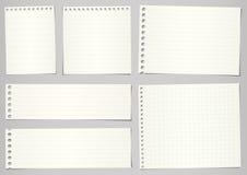 Uppsättningen av den sönderrivna anteckningsboken skyler över brister med linjer och raster på royaltyfri illustrationer