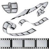 Uppsättningen av filmer 35mm filmrulle Realistisk bild 3D Arkivfoton