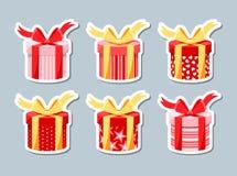 Uppsättningen av gåvan boxas royaltyfri illustrationer