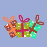 Uppsättningen av gåvan boxas Vektor Illustrationer
