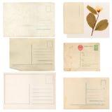 Uppsättningen av gammalt pappers- täcker, kuvertet och kortet Royaltyfri Fotografi