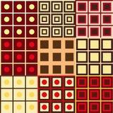 Uppsättningen av geometri mönstrar Arkivfoton