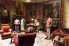 Uppsättningen av Gryffindor gemensamt rum, LEAVESDEN, UK Fotografering för Bildbyråer