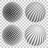 Uppsättningen av halvton 3D pricker sfärer, på isolerad genomskinlig bakgrund det mitt designelementgallerit ser var god liknande royaltyfri illustrationer