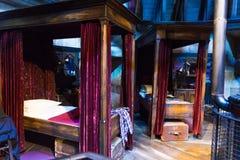 Uppsättningen av Harry Potter och annat studentsovrum i Hogwarts, Royaltyfri Bild