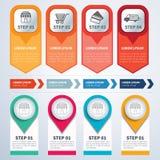 Uppsättningen av infographic mallar sänker design stock illustrationer