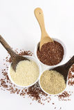 Uppsättningen av jasminrissamlingen har kolhydrater, vitaminet och mineral den goda för hälsa på isolerad vit bakgrund Arkivbild