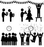 Uppsättningen av jul sänker kontorssymboler som isoleras på vit royaltyfri illustrationer